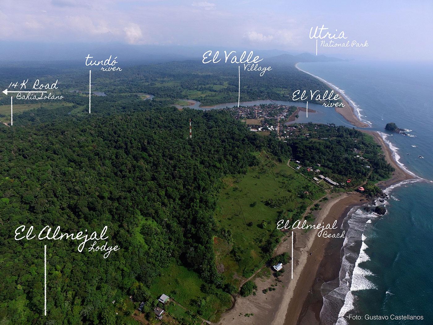 ubicacion hotel el almejal pacifico colombiano